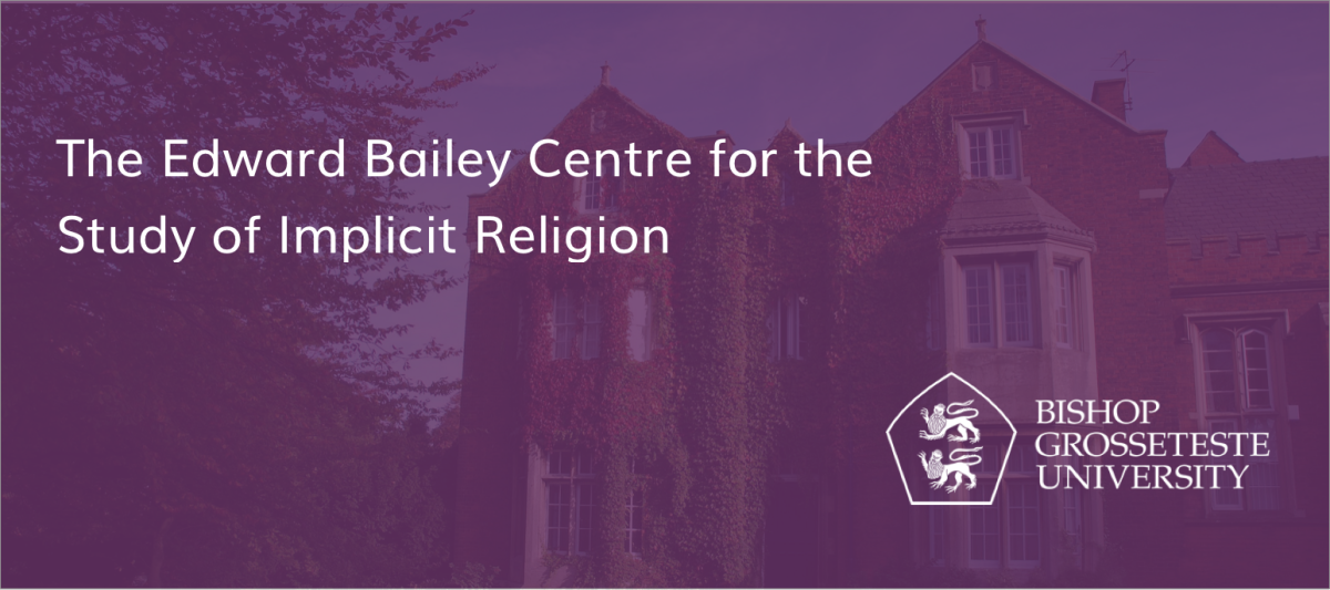 The Edward Bailey Centre for the Study of Implicit Religion Bishop Grosseteste University Logo, Ivy Covered Building in background